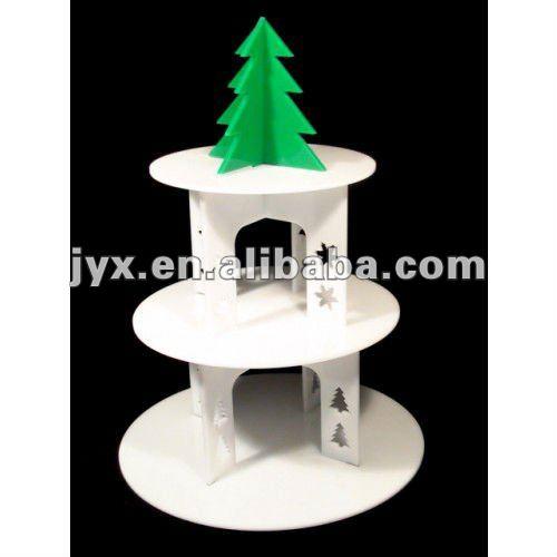 3 Tiered Christmas Cakes 3 Tier Acrylic Christmas Tree