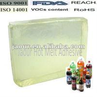 Rubber Hot Melt Glue for PET Bottle Label
