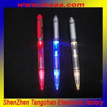led flashing light pen promotional pen