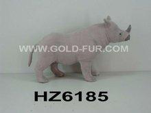 artificial rhinoceros, grey rhinoceros, rhinoceros decoration, standing rhinoceros, rhinoceros for gifts,fur animal
