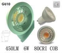 CE RoHs 6W GU10 COB dmx controled led spotlight
