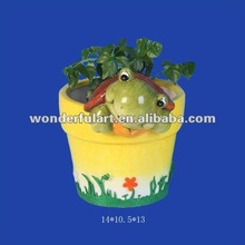 hot sale tortoise decor on flower pot