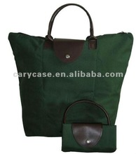 solid olive green foldable beach bag