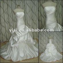 JJ2769 Drop Shipping Silk Satin Beaded Wedding Dress 2012