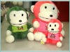 Green Pink Colorful Big Mouth Monkey Soft Toy