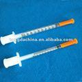 desechables de insulina jeringa con aguja