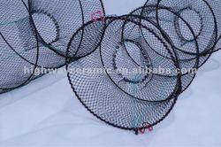 "6.5"" Enter Dia Spring Metal Frame Shrimp Trap Fishing Net Cage, crab cage"