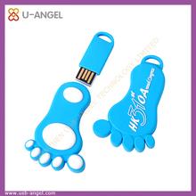 oem usb flash disk 4gb pvc usb pen drive unique shape of the cartoon flash drive feet