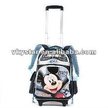 Cheap brand kids travel trolley school bag for boys