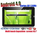 10.1 inch AllWinner A10 1.2G Google Android 4.0 Capacitive Touch 512MB DDR3 4GB tablet pc