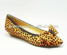 Pretty Steps 2013 women ladies fashion leopard print leather flat shoes