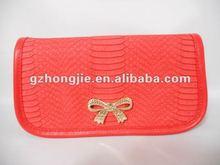 snake skin make up bag