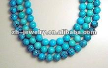 tibetan brass turquoise bead