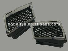 Plastic auto body grill titanium car parts