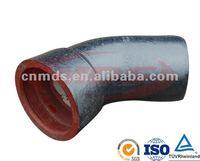 ductile pipe fitting socket spigot 22.5 bend MDS010
