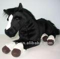 Mini cavallo nero farcito per la mostra