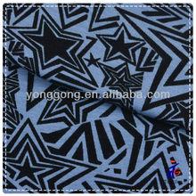 Stars Pattern Blue and Black Soft Fabric