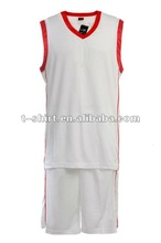 White 100% Polyester Dry Fit Basketball Sportswear Jersey