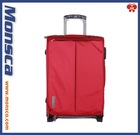 nylon or polyester soft trolley luggage / trolley case carry on suite case spinner wheels