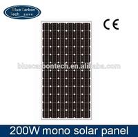Hot 200W A-grade cell sunrise pv solar panel 24v
