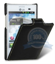 for LG Optimus L3 E400 leather case