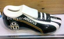 polyresin soccer shoes coin aver, money bank