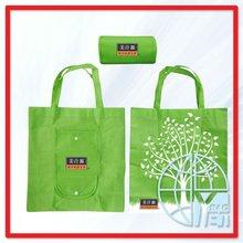 Unique Folding Reusable Compact Eco Shopping Bag non woven Green