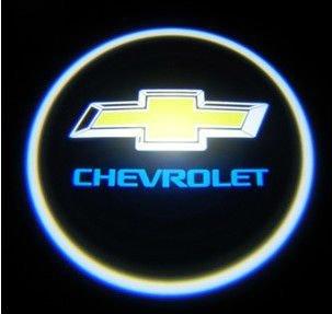 La puerta de coche luz LED de la recepción fantasma de la proyección de sombra de ojos luz de insignia del Laser para Chevrolet