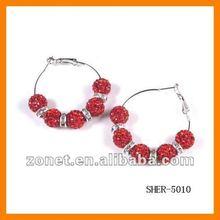 Crystal Disco Ball Earrings Wholesale SHER-5010