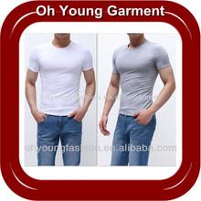OEM Service Spandex/Cotton Fitted Blank Plain TShirt Custom 180g Bodybuilding Mens Sport Cotton/Spandex T-Shirts Wholesale
