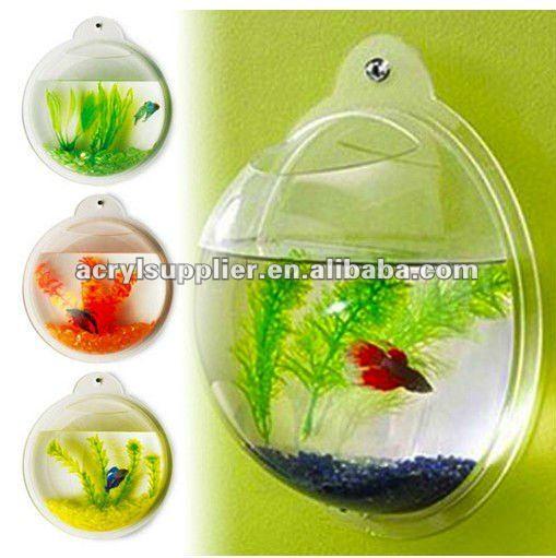 Mini mur mont un demi sph re forme acrylique r servoir for Mini poisson aquarium