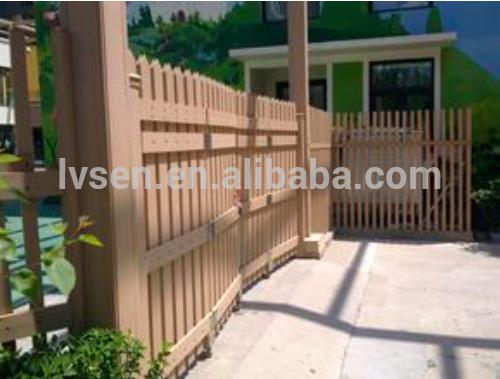 Ext rieur en bois plastique composite decking panneau de mur et des cl tures - Panneau bois composite exterieur ...