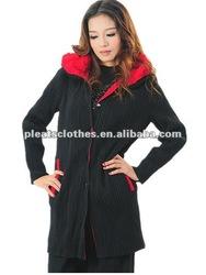 Black color long sleeve autum womens clothing chiffon tops
