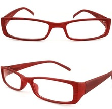 2012 new design red color wooden reading glasses