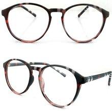 2012 fashion design big round frame printing reading glasses