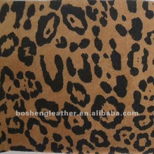 LEOPARD PATTERN PRINTING GENUINE LEATHER