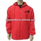 unisex red winter coat 2012 men zipper windbreaker nylon jacket