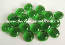 Green Glass Beads For Garden Ornament