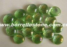 Green Flat Glass Beads For Aquarium