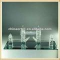 londres de recuerdos de la torre de cristal modelo de puente para la decoración de la oficina