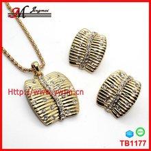 TB1177 gold wedding jewelry wedding jewelry set necklace earring ring bracelet