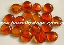 Garden Decorative Red Glass Beads