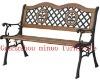 M-PL-09 wood park bench cast aluminum wooden garden bench