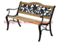 M-PL-12outdoor / indoor cast aluminum wooden garden bench