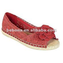2012 New Design flower crochet women shoes