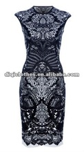 2014 newest fashion lady Paisley dress vintage long dress for fit formal prom dress