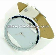 popular white lady watch pu leather strap