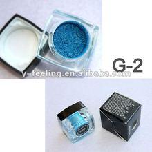 Blue Glitter Loose Eeyshadow Make Up Powder 02#