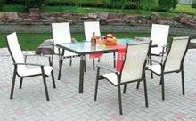 outdoor aluminum mesh chair set UNT-823