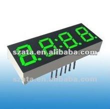 Green 4 digits 7 segment LED number manage